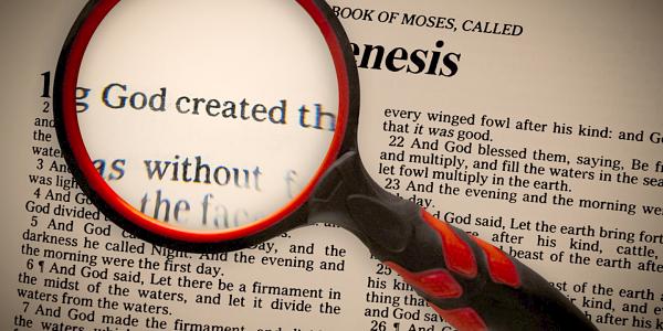 43011329 - a focus on genesis 1v1, that god created.